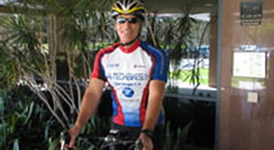 Image of Fred Dudek cycling